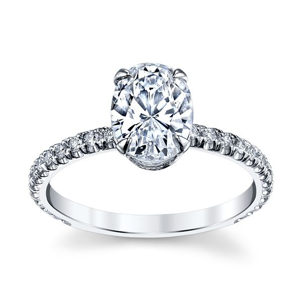 Michael M. 18k White Gold Diamond Engagement Ring Setting 1/3 ct. tw.