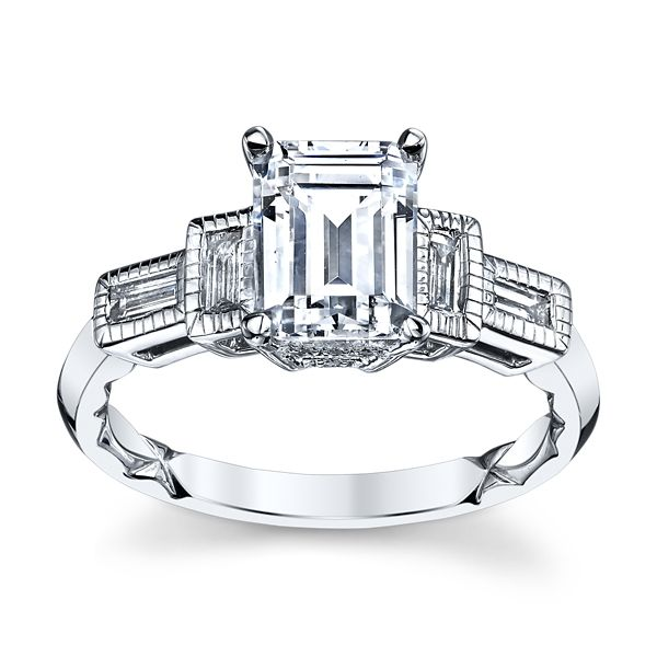 A. Jaffe 14k White Gold Diamond Engagement Ring Setting 1/5 ct. tw.