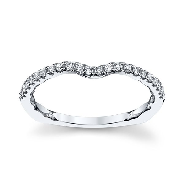 A. Jaffe 14k White Gold Diamond Wedding Band 1/6 ct. tw.