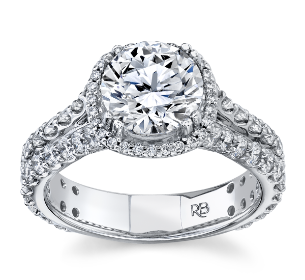 RB Signature 14k White Gold Diamond Engagement Ring Setting 1 1/2 ct. tw.