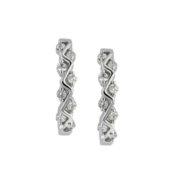 14k White Gold Earrings 1/6 ct. tw.