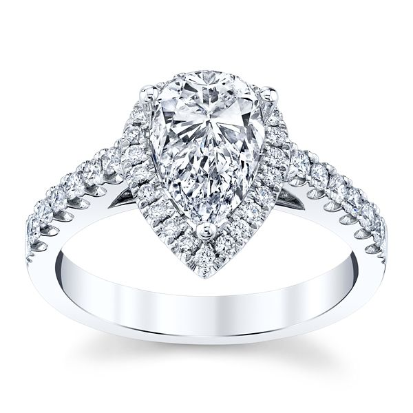 Divine Platinum Diamond Engagement Ring Setting 3/8 ct. tw.
