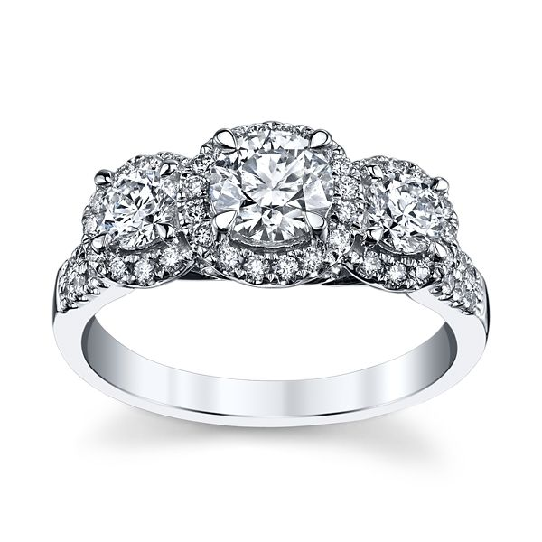 Utwo 14k White Gold Diamond Engagement Ring 1 1/3 ct. tw.