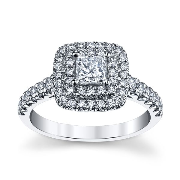 Utwo 14k White Gold Diamond Engagement Ring 7/8 ct. tw.