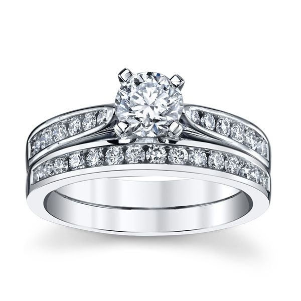 Utwo 14k White Gold Diamond Wedding Set 1 ct. tw.