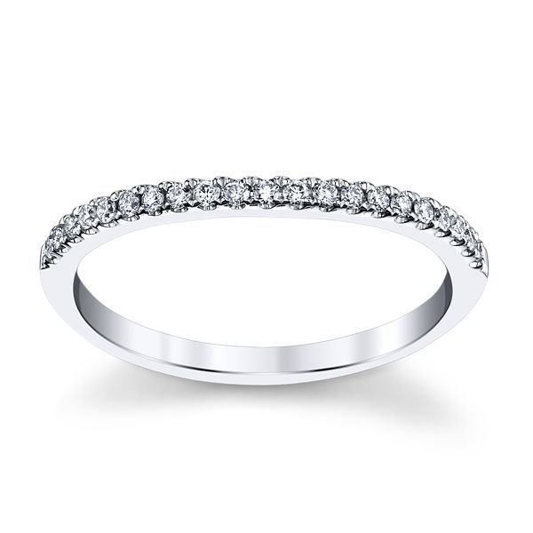 Eternalle Lab-Grown 14k White Gold Diamond Wedding Band 1/8 ct. tw.