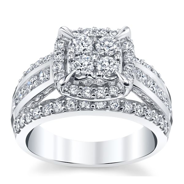Mosaic Collection 14k White Gold Diamond Engagement Ring 2 ct. tw.