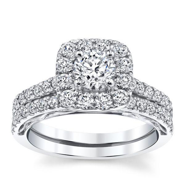 Utwo 14k White Gold Diamond Wedding Set 1 1/2 ct. tw.