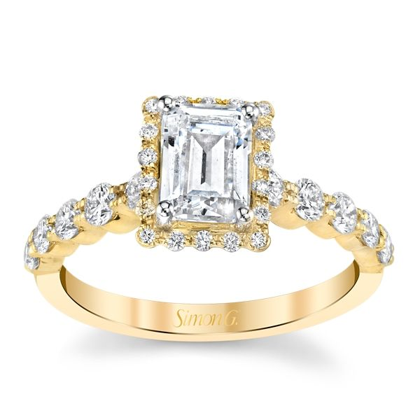 Simon G. 18k Yellow Gold Diamond Engagement Ring Setting 5/8 ct. tw.