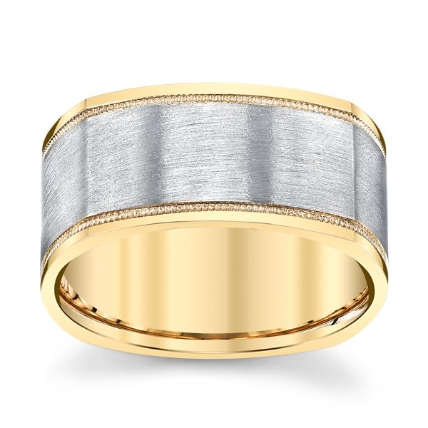 Novell 14k Yellow Gold and 14k White 10 mm Wedding Band