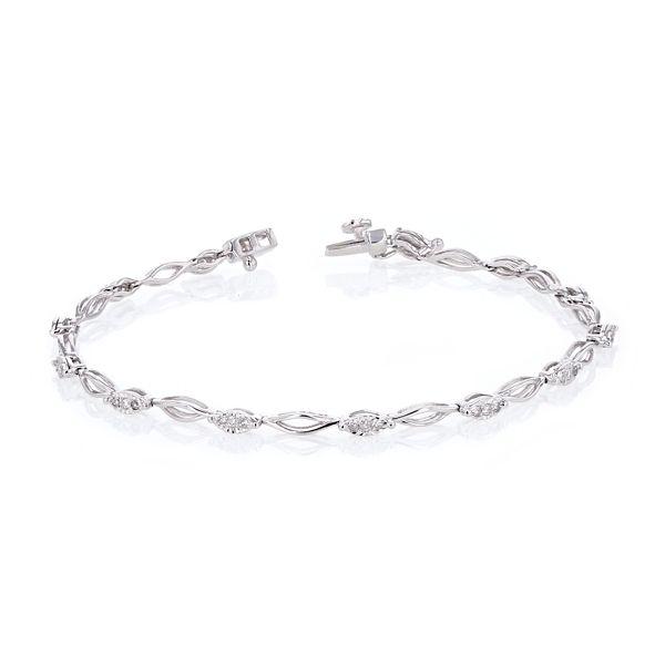 14k White Gold Bracelet 1/4 ct. tw.