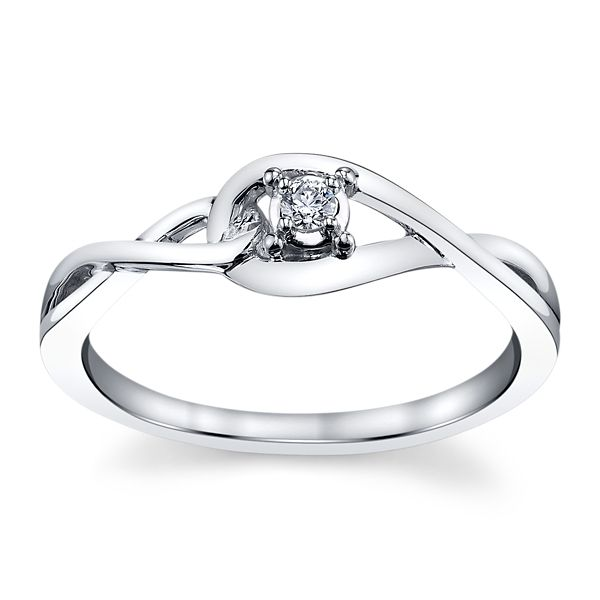 Cherish 14k White Gold Promise Ring .04 ct. tw.