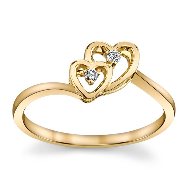 Cherish 10k Yellow Gold Promise Ring .03 ct. tw.