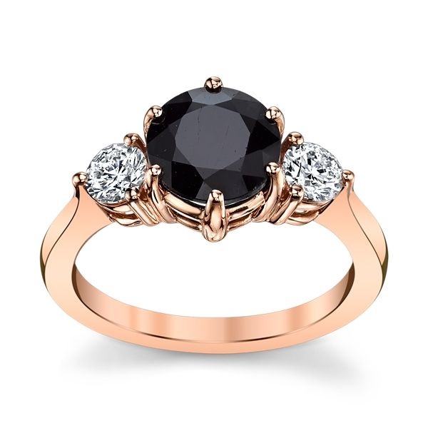 Blossom Bridal 14k Rose Gold Blue Sapphire Diamond Engagement Ring 3/8 ct. tw.
