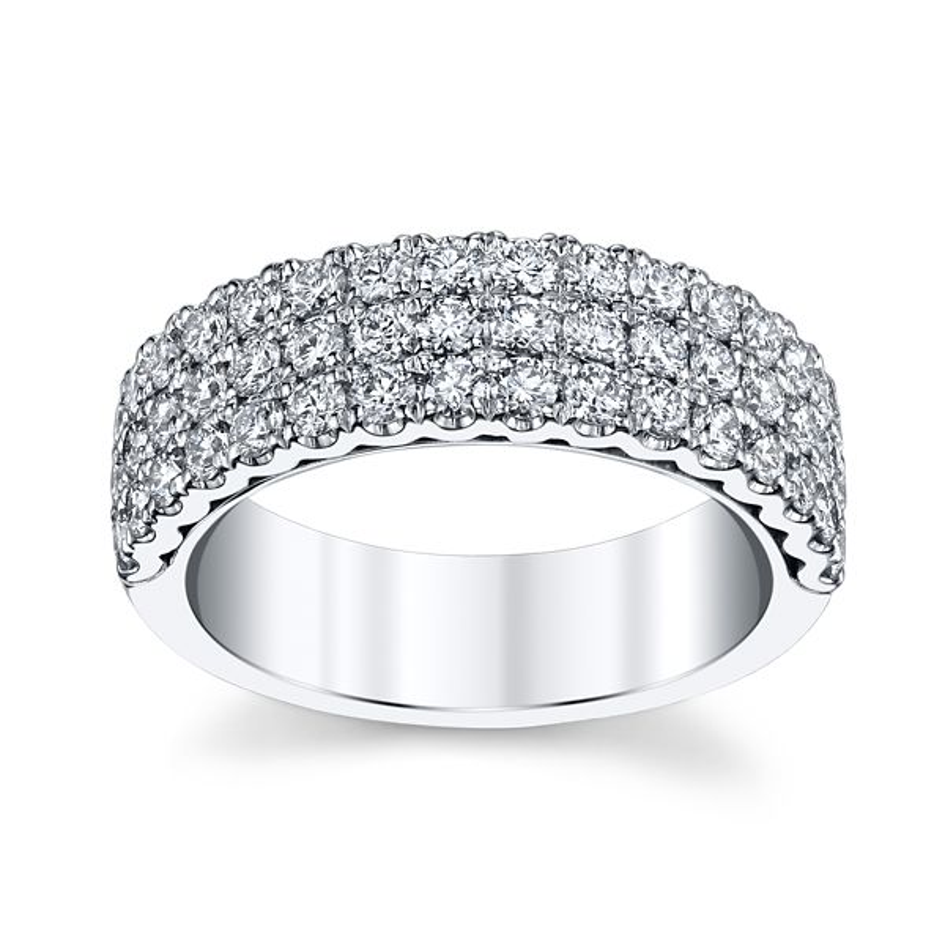 Henri Daussi 14k White Gold Diamond Wedding Band 1 1/4 ct. tw.