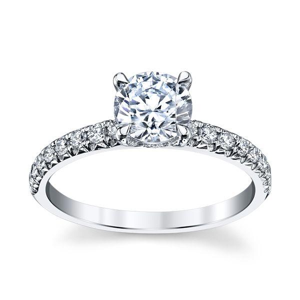 Gem Quest Bridal 14k White Gold Diamond Engagement Ring Setting 1/3 ct. tw.