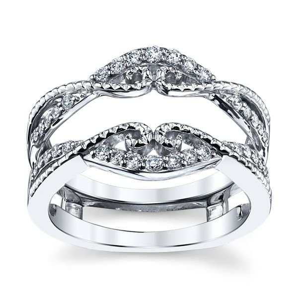 14k White Gold Solitaire Guard 1/3 ct. tw.