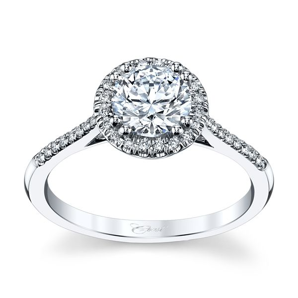 Coast Diamond 14k White Gold Diamond Engagement Ring Setting 1/8 ct. tw.