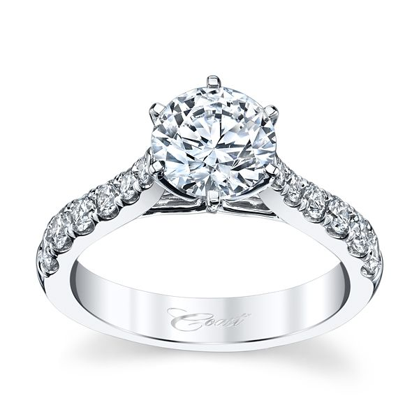 Coast Diamond 14k White Gold Diamond Engagement Ring Setting 5/8 ct. tw.