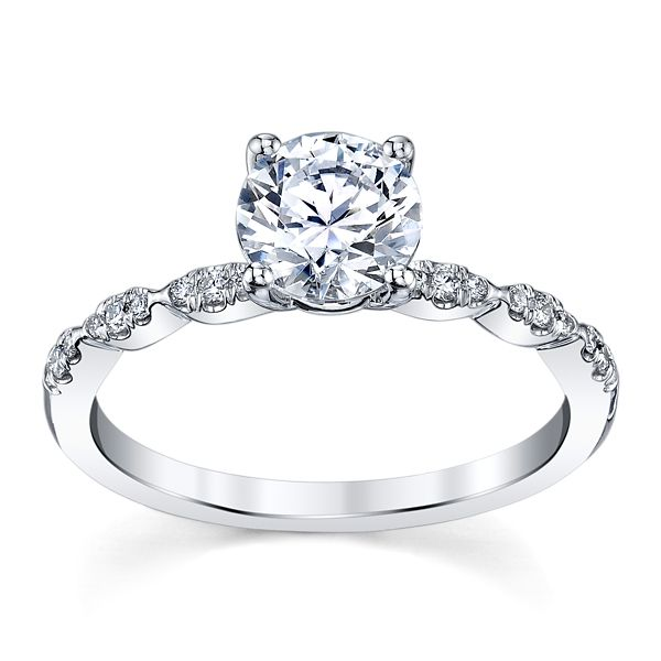Coast Diamond 14k White Gold Diamond Engagement Ring Setting 1/10 ct. tw.
