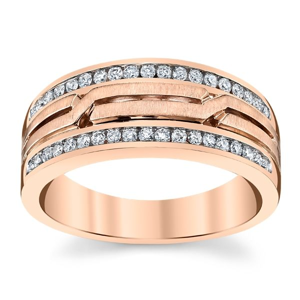RB Signature 14K Rose Gold Diamond Wedding Band 3/8 ct. tw.