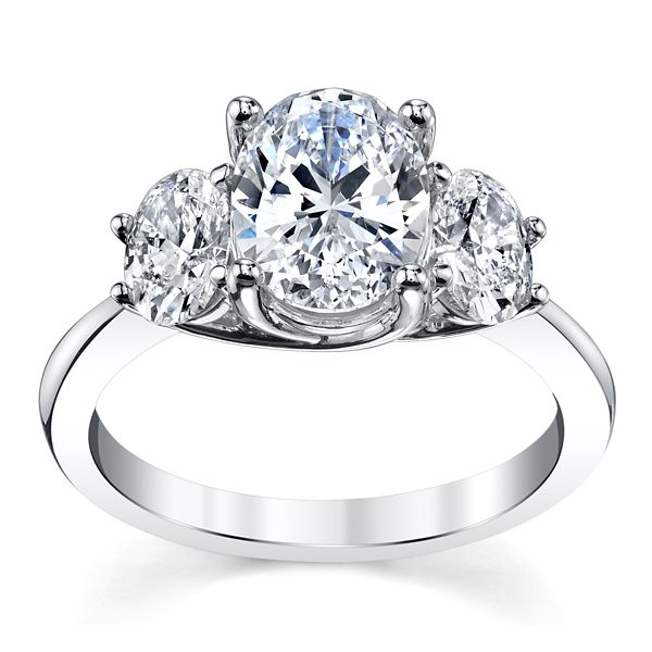 RB Signature 14k White Gold Diamond Engagement Ring Setting 1 ct. tw.