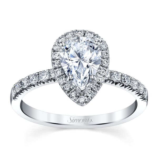 Simon G. 18k White Gold Diamond Engagement Ring Setting 3/8 ct. tw.