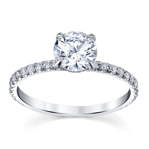 Michael M. 18k White Gold Diamond Engagement Ring Setting 1/4 ct. tw.