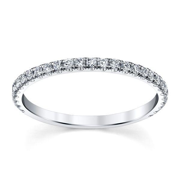 Michael M. 18k White Gold Diamond Wedding Band 1/4 ct. tw.