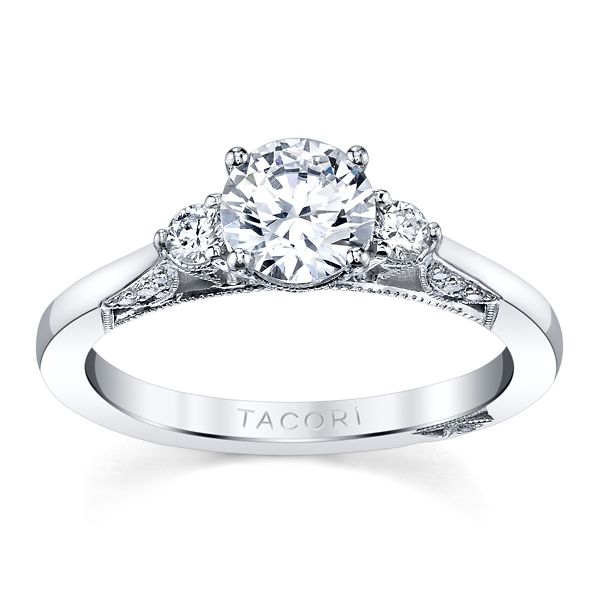 Tacori 18k White Gold Diamond Engagement Ring Setting 1/5 ct. tw.