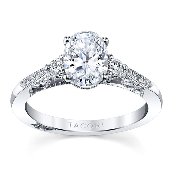 Tacori 18k White Gold Diamond Engagement Ring Setting 1/4 ct. tw.