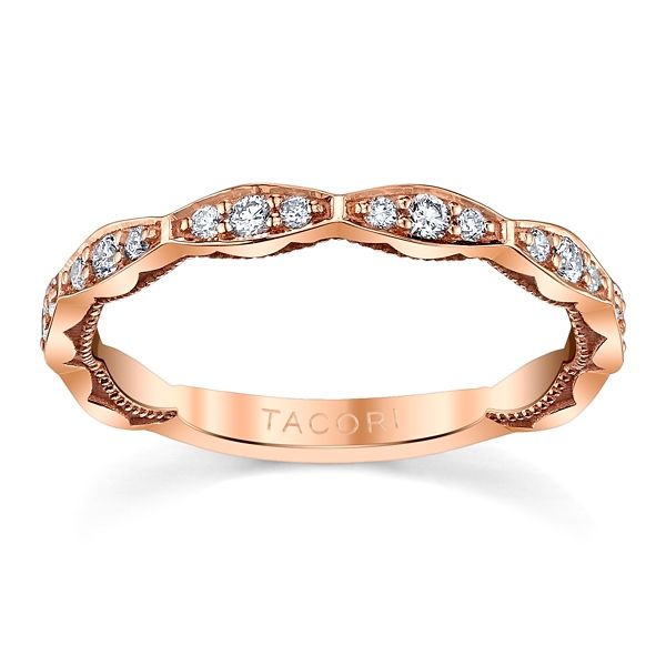 Tacori 18k Rose Gold Diamond Wedding Band 1/4 ct. tw.