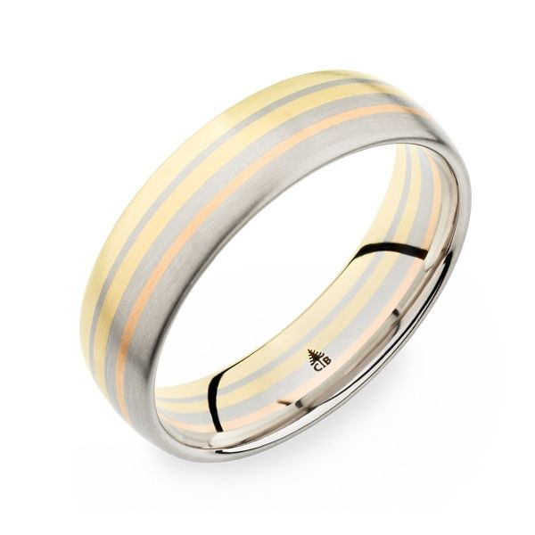 Christian Bauer 14k White Gold and 14k Yellow Gold and 14k Rose Gold and 14k Red Gold 6 mm Wedding Band