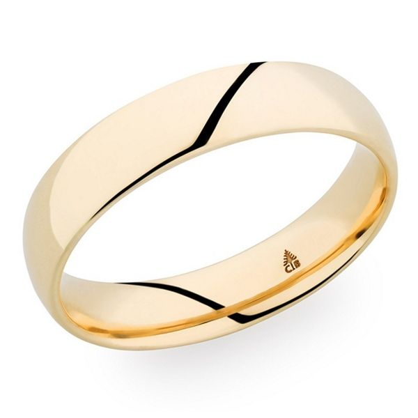Christian Bauer 14k Yellow Gold 5 mm Wedding Band