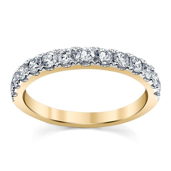 14k Yellow Gold Diamond Wedding Band 5/8 ct. tw.