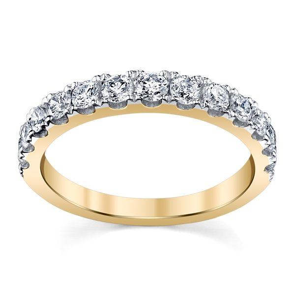 14k Yellow Gold Diamond Wedding Band 3/4 ct. tw.