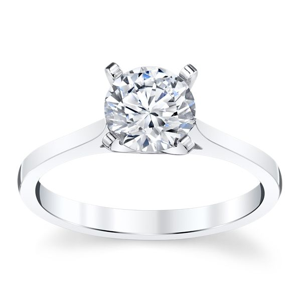 14k White Gold Engagement Ring Setting