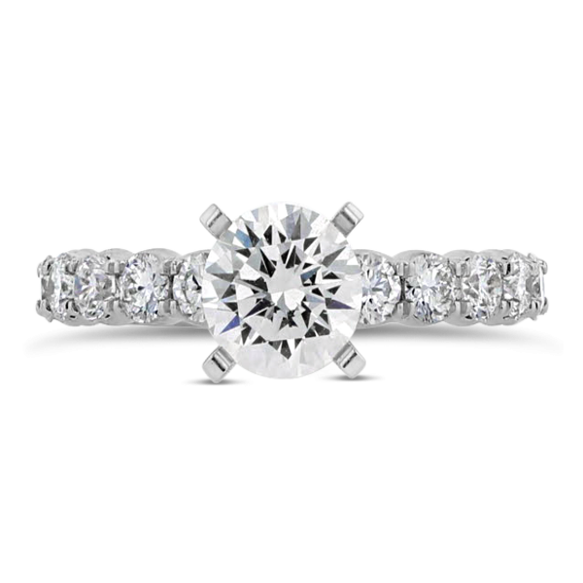 14k White Gold Diamond Engagement Ring Setting 5/8 ct. tw.