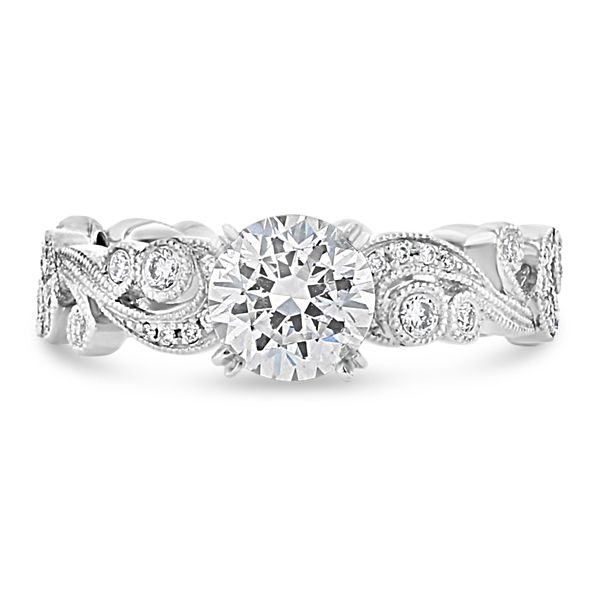 Pre-Owned Kirk Kara 18k White Gold Diamond Engagement Ring Setting 1/5 ct. tw.