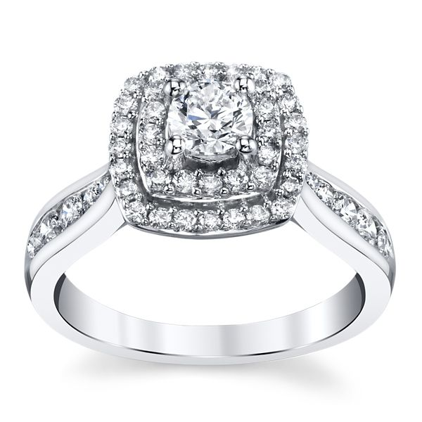 10k White Gold Diamond Engagement Ring 3/4 ct. tw.