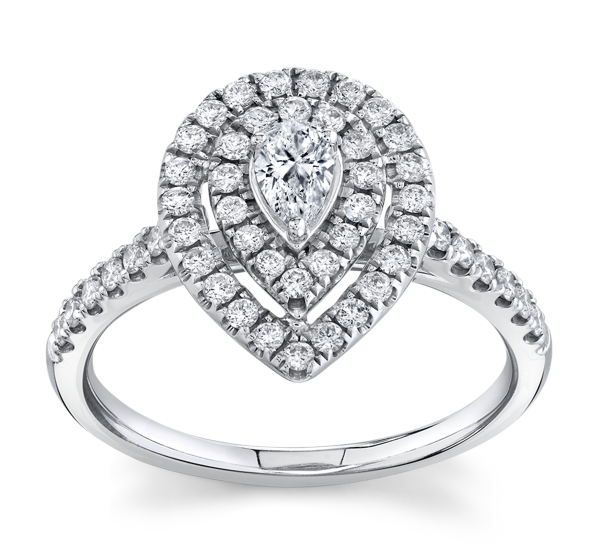Cherish 14k White Gold Diamond Engagement Ring 5/8 ct. tw.