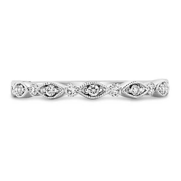 Henri Daussi 14k White Gold Diamond Wedding Band 1/5 ct. tw.