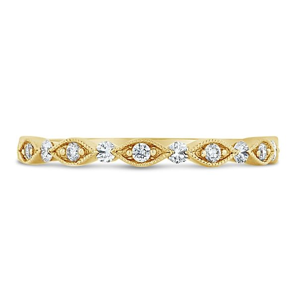 Henri Daussi 14k Yellow Gold Diamond Wedding Band 1/5 ct. tw.