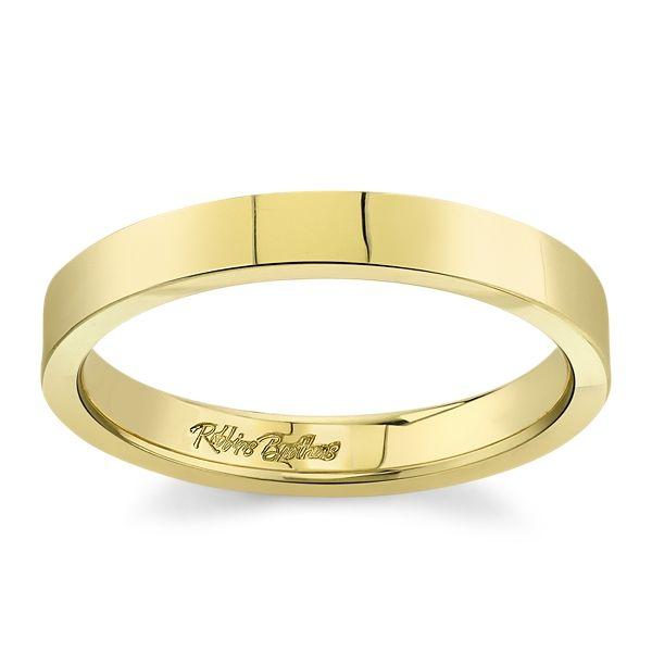 14k Yellow Gold 3 mm Wedding Band