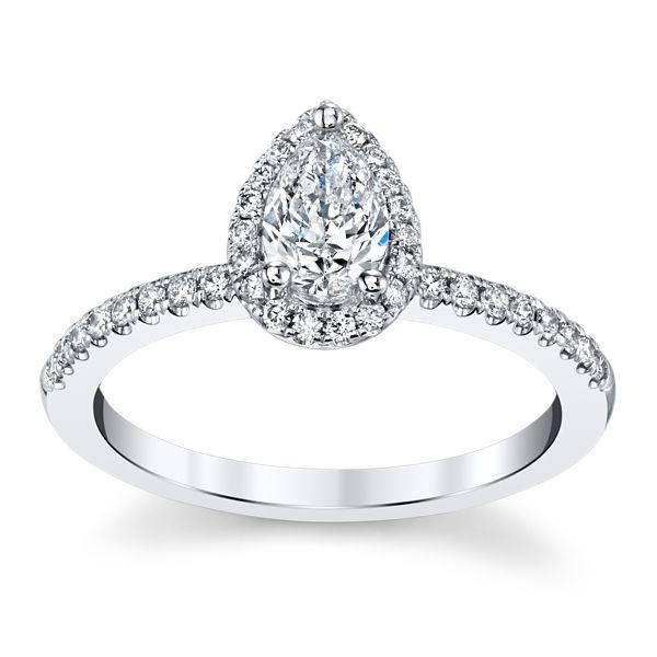 Poem 14k White Gold Diamond Engagement Ring 5/8 ct. tw.