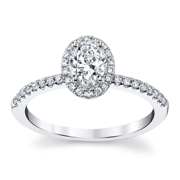 Poem 14k White Gold Diamond Engagement Ring 3/4 ct. tw.