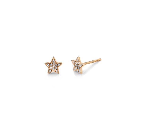 Shy Creation 14k Rose Gold Earrings .07 ct. tw.