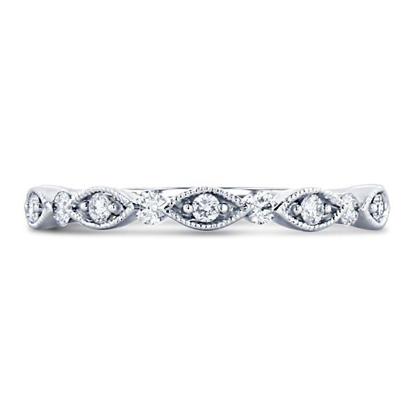 Henri Daussi 14k White Gold Diamond Wedding Band 1/6 ct. tw.