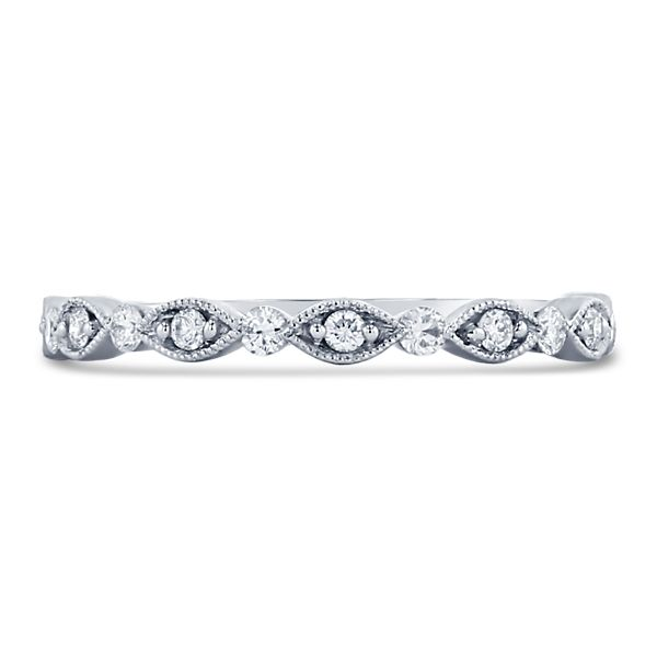 Henri Daussi 14k White Gold Diamond Wedding Band 1/6 ct. tw.