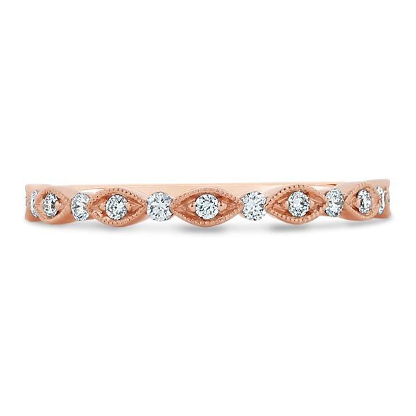 Henri Daussi 14k Rose Gold Diamond Wedding Band 1/5 ct. tw.